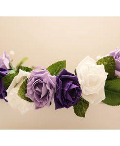 floral hair wreath