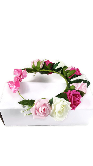 floral wreath for hair