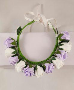 flower girl floral halo