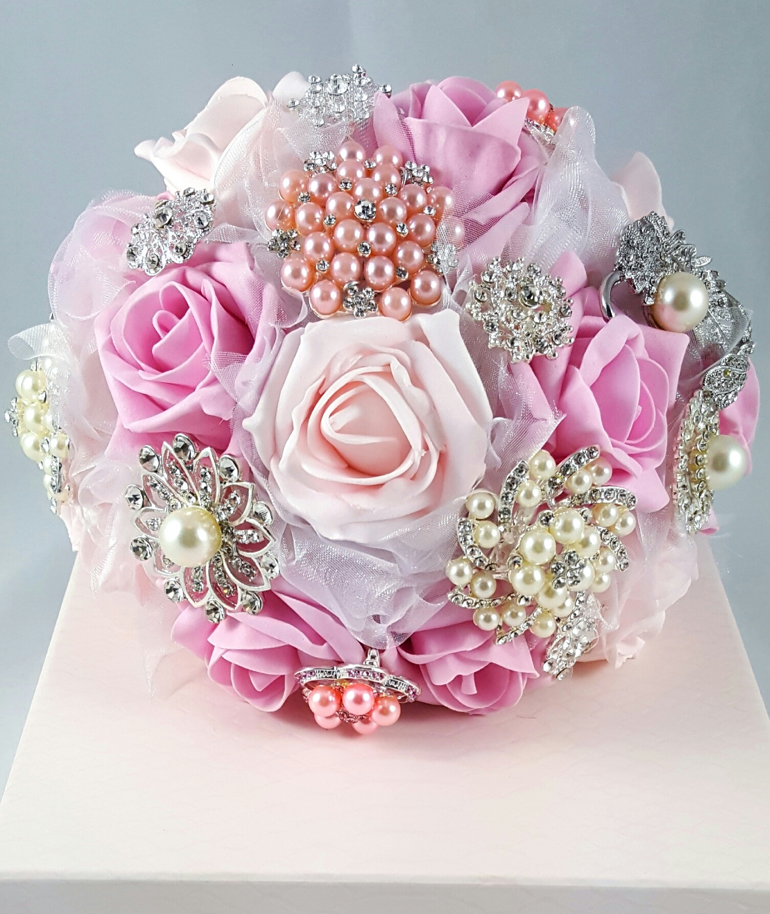 Pink Bridal Bouquet – Toshcreations