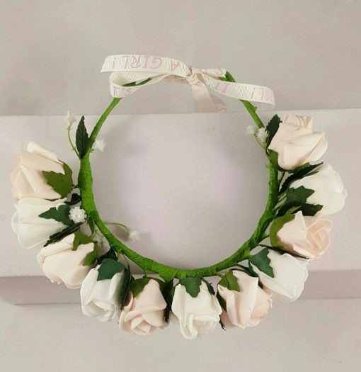 flower girl hair wreath