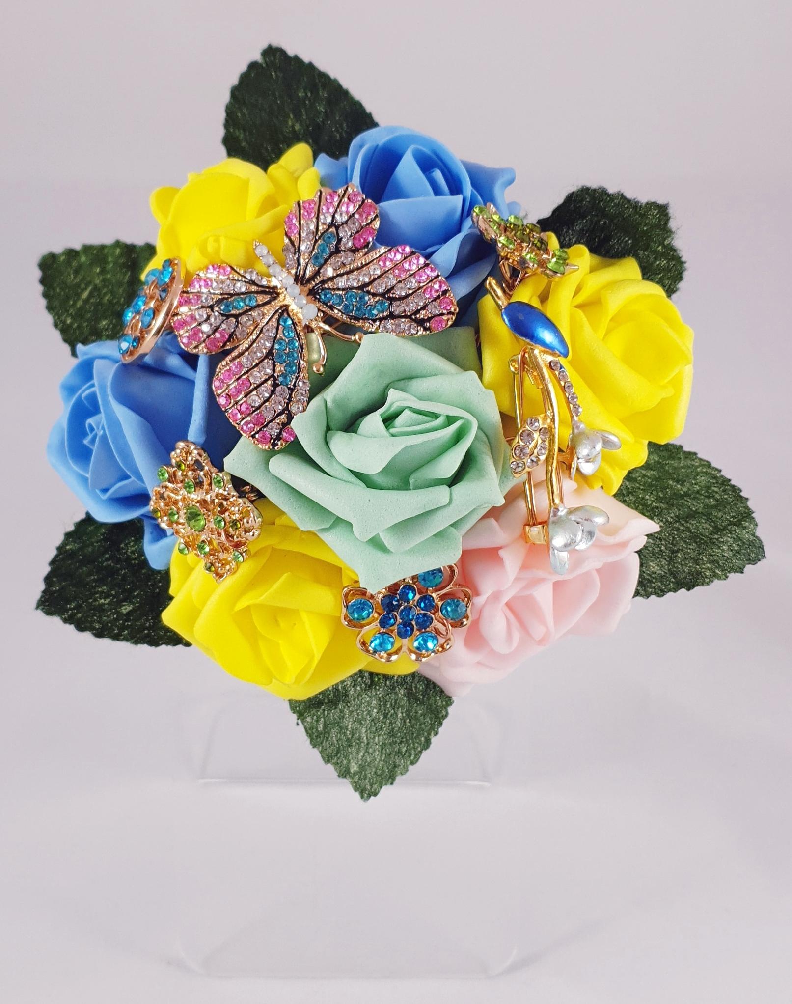 flower girl brooch bouquet